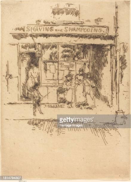 Shaving and Shampooing, c. 1886/1888. Artist James Abbott McNeill Whistler.
