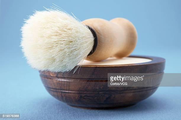 Shaving Brush on Shaving Soap