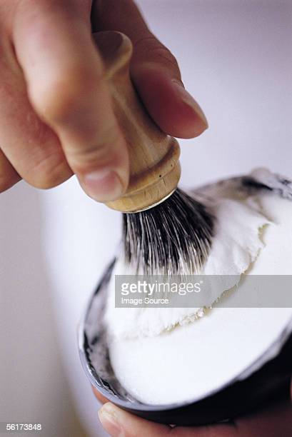shaving foam - shaving brush stock photos and pictures