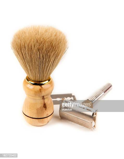 shaving kit - shaving brush stock photos and pictures