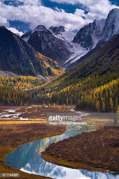 Shavla river bend under Severo-Chuyskiy Range