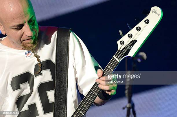 Shavo Odadjian of System of a Down performs at the 25th Annual KROQ Almost Acoustic Christmas at The Forum on December 13 2014 in Inglewood California