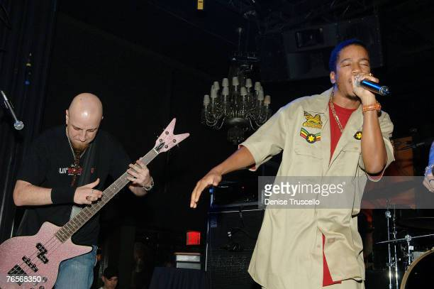 Shavo Odadjian and Reverend William Burke perform at Oakley's PreVMA Party at Body English at The Hard Rock Hotel and Casino Resort on September 06...