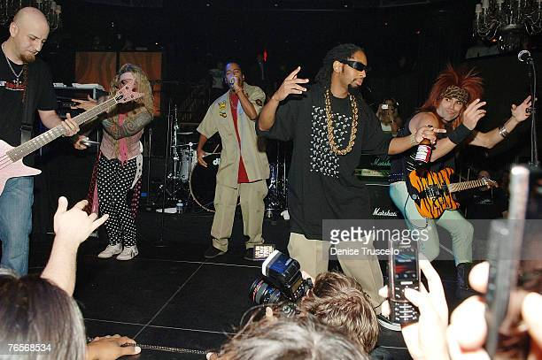 Shavo Odadjian Reverend William Burke Rapper Lil Jon and Metal Skool perform at Oakley's PreVMA Party at Body English at The Hard Rock Hotel and...