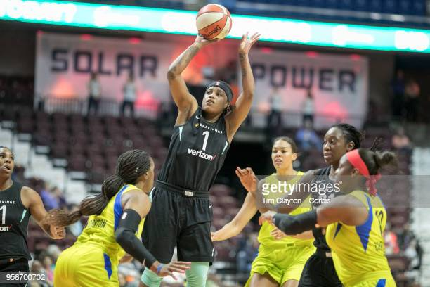 Shavonte Zellous of the New York Liberty in action during the Dallas Wings Vs New York Liberty WNBA pre season game at Mohegan Sun Arena on May 7...