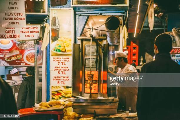 Shawarma vendor on Taksim, Istanbul