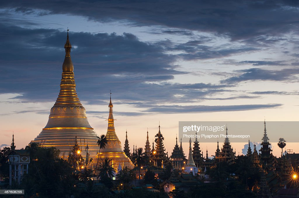 Shawedagon pagoda myanmar : Stock Photo