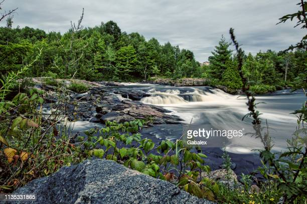 shawinigan river falls - shawinigan stock pictures, royalty-free photos & images
