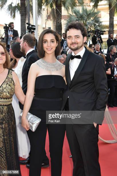 B Shawky and Dina Emam attend the Closing Ceremony screening of 'The Man Who Killed Don Quixote' during the 71st annual Cannes Film Festival at...