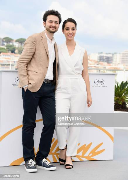 Shawky and Dina Emam attend the photocall for 'Yomeddine' during the 71st annual Cannes Film Festival at Palais des Festivals on May 10 2018 in...