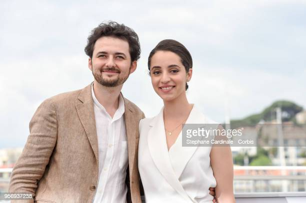 Shawky and Dina Emam attend the 'Yomeddine' Photocall during the 71st annual Cannes Film Festival at Palais des Festivals on May 10 2018 in Cannes...
