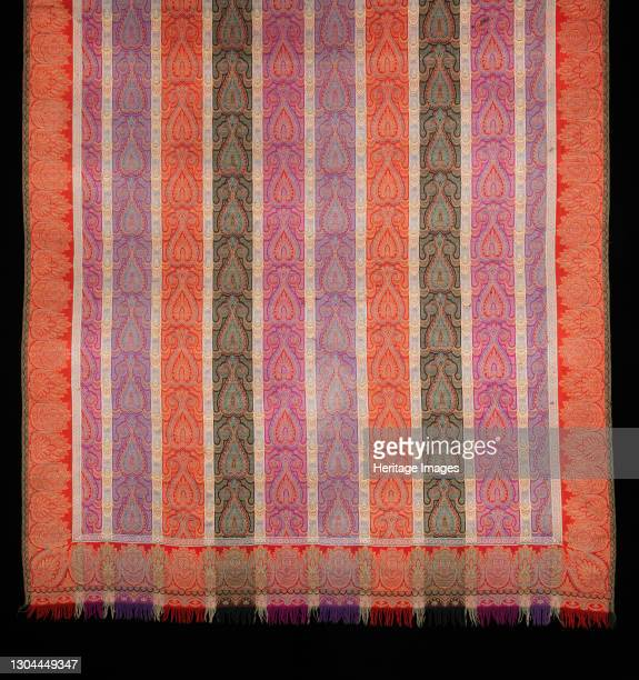 Shawl, probably French, 1860-75. Artist Unknown.