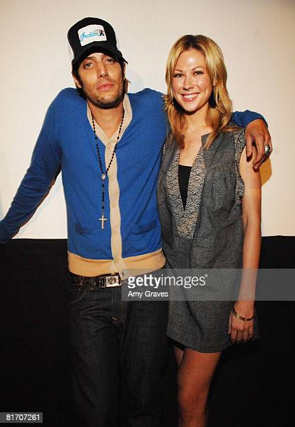 Shawn Andrews and Desi Lydic attend the 2008 Los Angeles Film Festival's Big Heart City Screening on June 24 2008 at the Landmark's Regent Theater in...