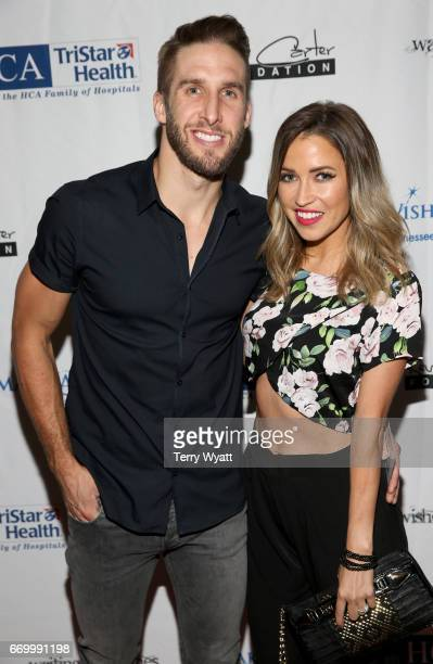 Shawn Booth and Kaitlyn Bristowe attend the 16th Annual Waiting for Wishes Celebrity Dinner Hosted by Kevin Carter Jay DeMarcus on April 18 2017 in...