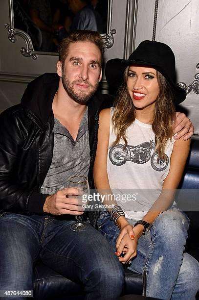 Shawn Booth and Kaitlyn Bristowe attend the NYLON Magazine Rebel Fashion Week party at Up Down on September 10 2015 in New York City