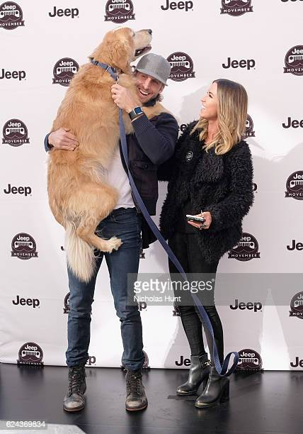 Shawn Booth and Kaitlyn Bristowe host the Jeep brand's ''Stache Styling Barbershop' to benefit the Movember Foundation on November 18 2016 in New...