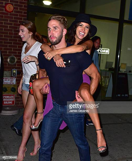 Shawn Booth and Kaitlyn Bristowe leave Catch on July 29 2015 in New York City