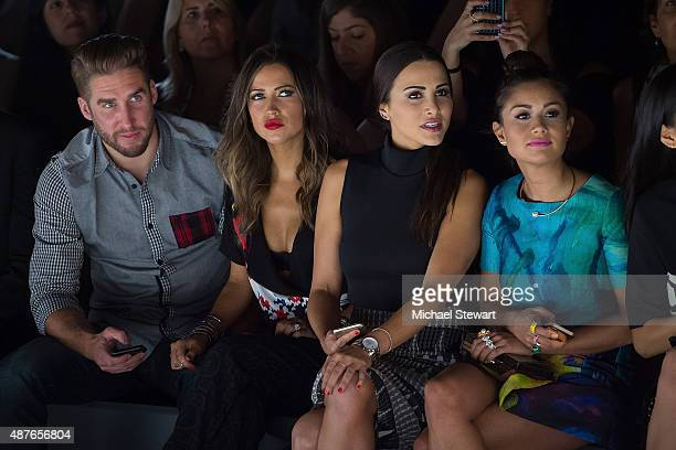 Shawn Booth Kaitlyn Bristowe Andi Dorfman and Catherine Giudici Lowe attend the Desigual fashion show during Spring 2016 New York Fashion Week at The...