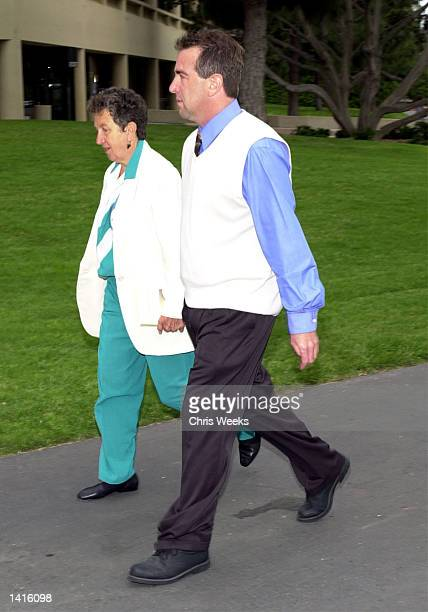 Shawn Brown exhusband of Erin Brockovich and defendant in the Erin Brockovich Extortion case arrives with his mother May 10 2000 at the Ventura...