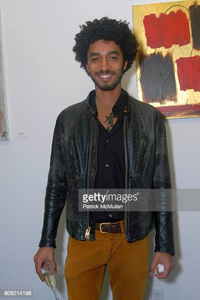 Shawn Carter Peterson attends Olympic Artist Jesse Raudales Peace for the Children Art Show at Los Angeles on February 9 2007