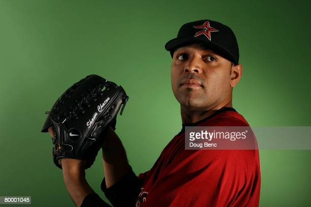 Shawn Chacon of the Houston Astros poses during Spring Training Photo Day at Osceola County Stadium on February 25 2008 in Kissimmee Florida