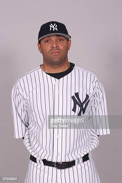 Shawn Chacon of the New York Yankees during photo day at Legends Field on February 24 2006 in Tampa Florida