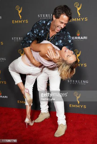 Shawn Christian and Arianne Zucker attend the Television Academy Daytime Programming Cocktail Reception at Television Academy's Wolf Theatre at the...