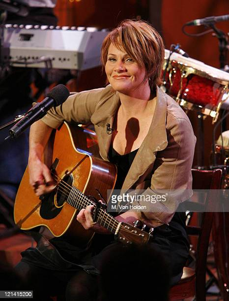 Shawn Colvin during Grammy Award Winner Shawn Colvin Performs on the Food Network's 'Emeril Live' March 8 2007 at Food Network Studios in Manhattan...