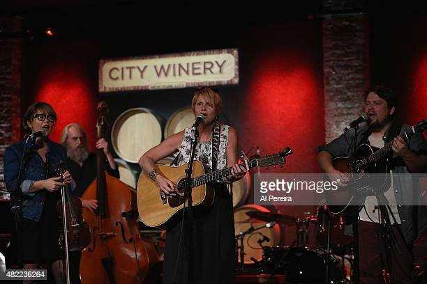Shawn Colvin joins Sara Watkins and Sean Watkins and the Watkins Family Hour when they perform at City Winery on July 28 2015 in New York City
