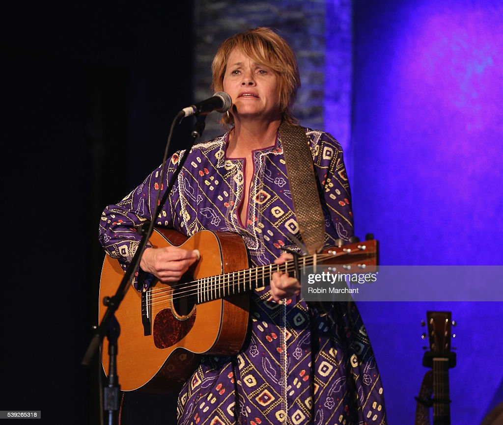 Shawn Colvin of Colvin & Earle preforms during Sirius Presents Steve Earle & Shawn Colvin at City Winery on June 10, 2016 in New York City.