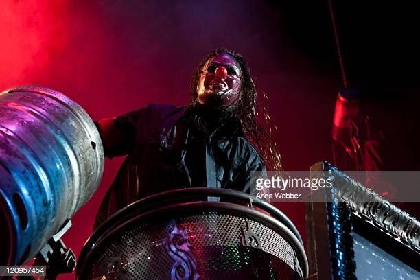 Shawn Crahan of Slipknot performs at The Cypress Hill Smokeout on October 24 2009 in San Bernardino California