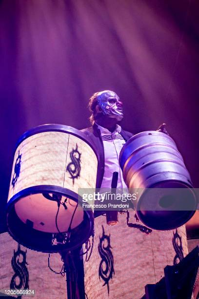 Shawn Crahan of Slipknot performs on February 11 2020 in Milan Italy