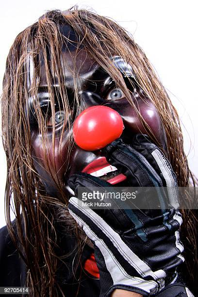 Shawn Crahan of Slipknot poses for a studio portrait session backstage at the Download Festival Donington Park Leicestershire on June 13th 2009