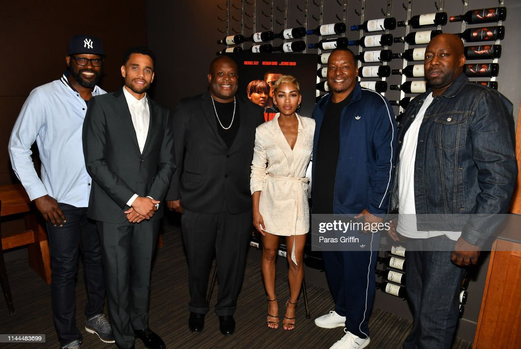 The Intruder Atlanta Mixer With Michael Ealy, Meagan Good, And Deon Taylor : News Photo