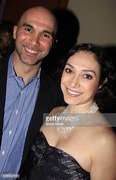 Shawn Emamjomeh and Gabriela Garcia attend the after party for the opening night of West Side Story on Broadway at Pier Sixty on March 19, 2009 in...