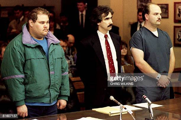 Shawn Eric Eckardt bodyguard of figure skater Tonya Harding and fellow defendent Derrick Smith are joined by Smith's attorney Robert Goffredi 14...