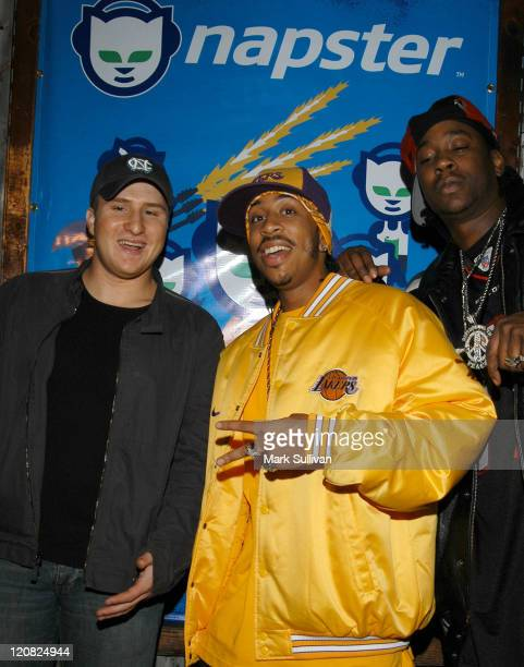 Shawn Fanning and Ludacris during Celebrate The Launch of Napster 20 Arrivals at House of Blues in West Hollywood California United States
