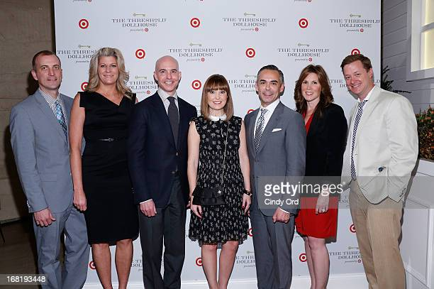 Shawn Gensch Julie Guggemos Todd Waterbery Dustee Jenkins Rick Gomez Mitchell Mesenburg and Dan Griffis attend the Target Dollhouse event at Grand...