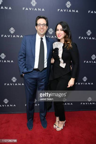 Shawn Hakimian and Adina Hakimian attend Faviana's Annual Oscars Red Carpet Viewing Party on February 24 2019 at 75 Wall St in New York City