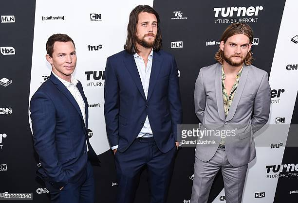 Shawn Hatosy Ben Robson and Jake Weary attend the 2016 Turner Upfront at Nick Stef's Steakhouse on May 18 2016 in New York New York