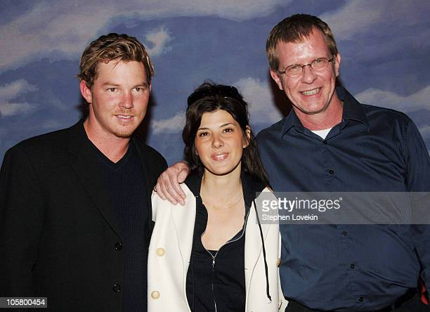 Shawn Hatosy Marisa Tomei and Terry Rabine during Beirut New York City Staged Reading April 17 2006 at Lucille Lortel Theatre in New York City New...
