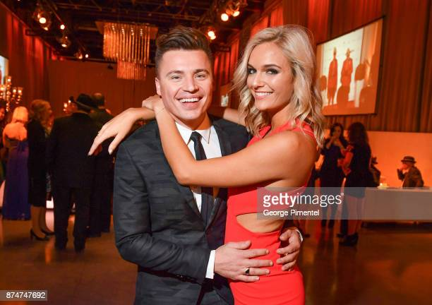 Shawn Hook and Kendall Chase attend 2017 Canada's Walk of Fame at The Liberty Grand on November 15 2017 in Toronto Canada
