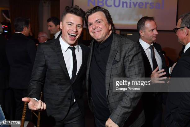 Shawn Hook and Prestident of Bell Media Randy Lennox attends 2017 Canada's Walk of Fame at The Liberty Grand on November 15 2017 in Toronto Canada
