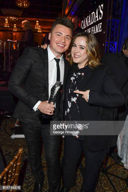 Shawn Hook and Serena Ryder attend 2017 Canada's Walk of Fame at The Liberty Grand on November 15 2017 in Toronto Canada