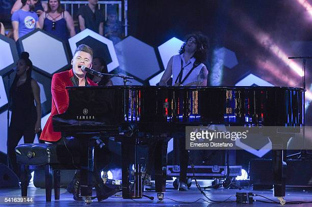Shawn Hook performs at the 2016 iHeartRADIO MuchMusic Video Awards at MuchMusic HQ on June 19 2016 in Toronto Canada