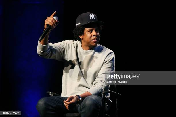 Shawn 'JayZ' Carter attends Criminal Justice Reform Organization Launch at Gerald W Lynch Theater on January 23 2019 in New York City