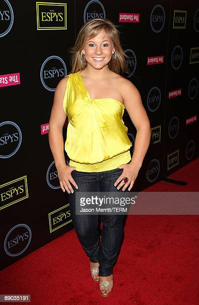 Shawn Johnson arrives at the 17th Annual ESPY Awards Celebration Of Champions athlete kickoff at J Bar on July 14 2009 in Los Angeles California