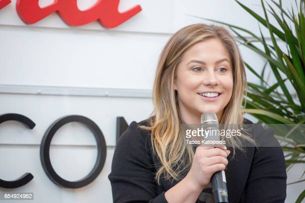 Shawn Johnson East speaks during the Beautycon Beauty Session at Annapolis Westfield on March 18 2017 in Annapolis Maryland