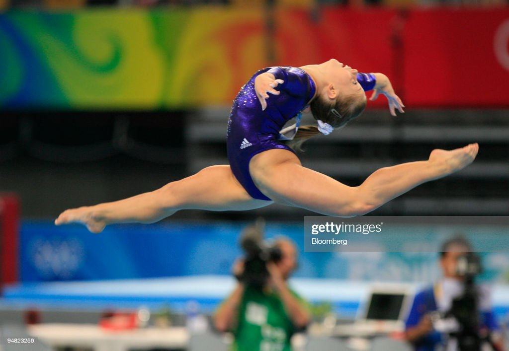 floor gymnastics shawn johnson. Shawn Johnson Of The USA, Performs Her Floor Routine In Women\u0027s Artistic Gymnastics Apparatus O