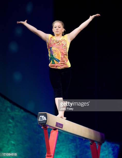 Shawn Johnson performs during the Tour Of Gymnastics Superstars Tour at Conseco Fieldhouse on November 11 2008 in Indianapolis Indiana